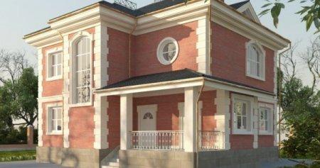 Проект дома 150-200 №1 свайно-ростверковый и свайный фундаменты
