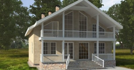 Проект кирпичного дома 150-200 №3