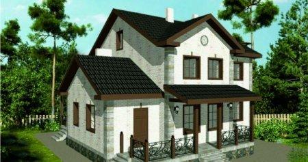 Проект кирпичного дома 150-200 №8