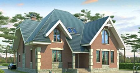 Строительство частного дома под ключ.Проект дома 150-200.