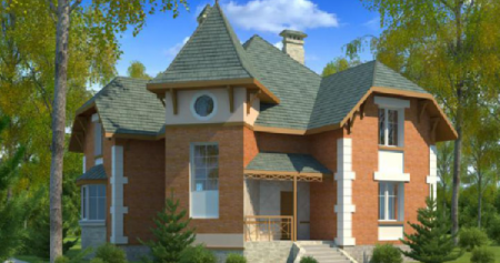 Проект кирпичного дома №8