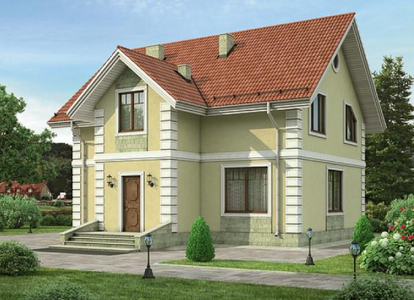 Проект дома из пеноблока 100-150 №1