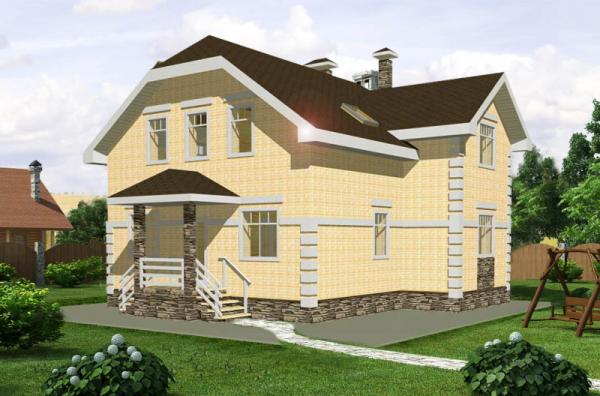 Проект дома из пеноблока 100-150 №3