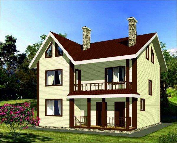 Проект дома из пеноблока 100-150 №6
