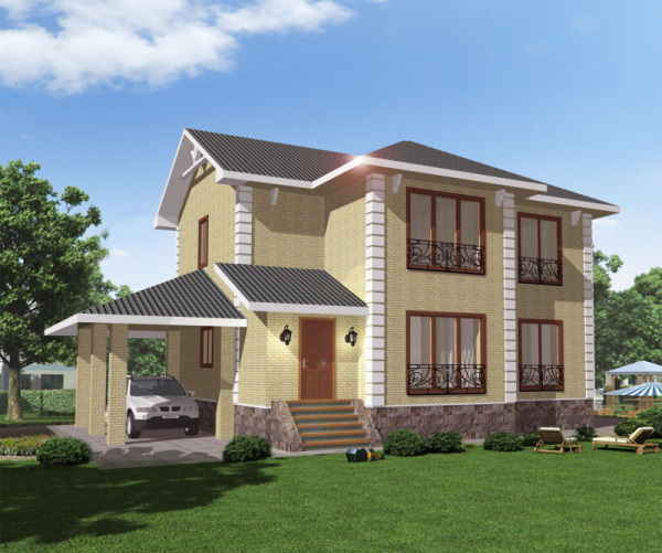Проект дома из пеноблока 100-150 №7