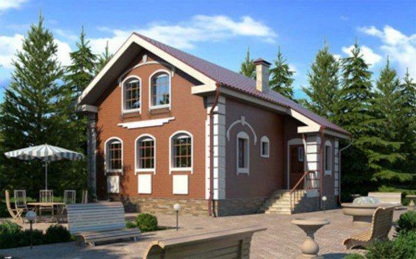 Проект дома из пеноблока до 100 №1