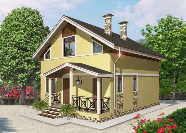 Проект дома из пеноблока до 100 №2