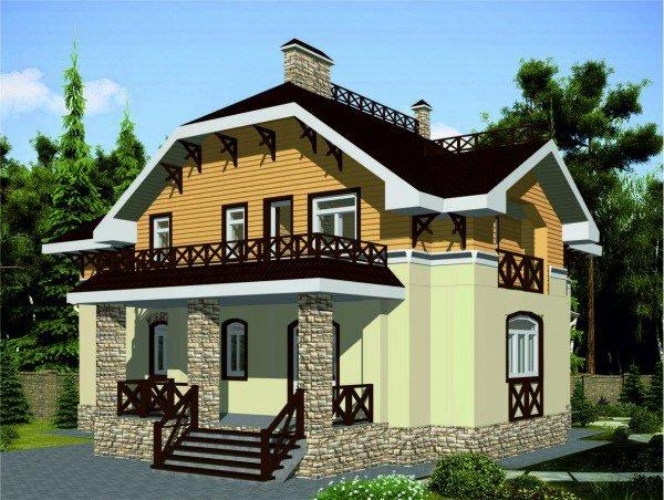 Проект дома из пеноблока 100-150 №11