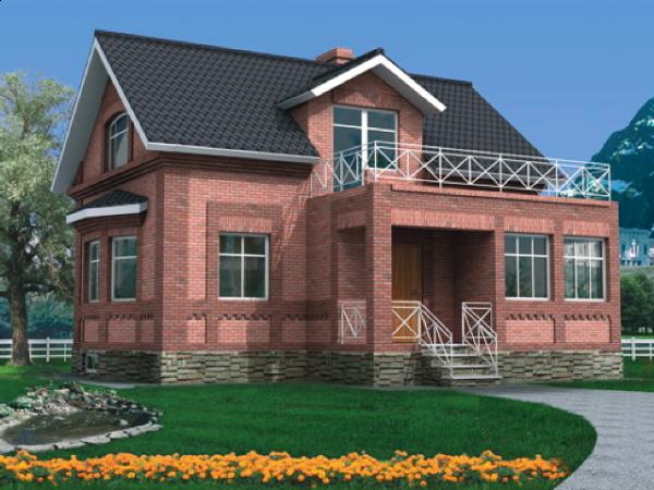Проект дома из пеноблока до 100 №8