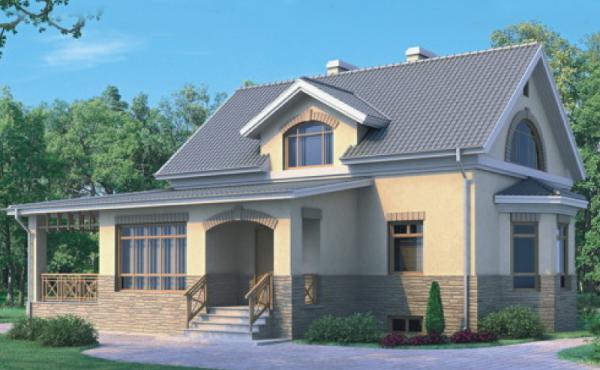 Проект дома из пеноблока до 100 №9