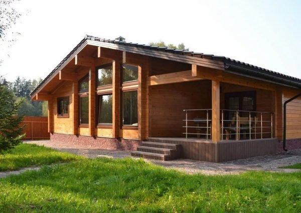 Строительство одноэтажного деревянного дома под ключ