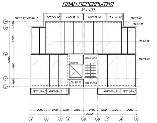 план перекрытия дома