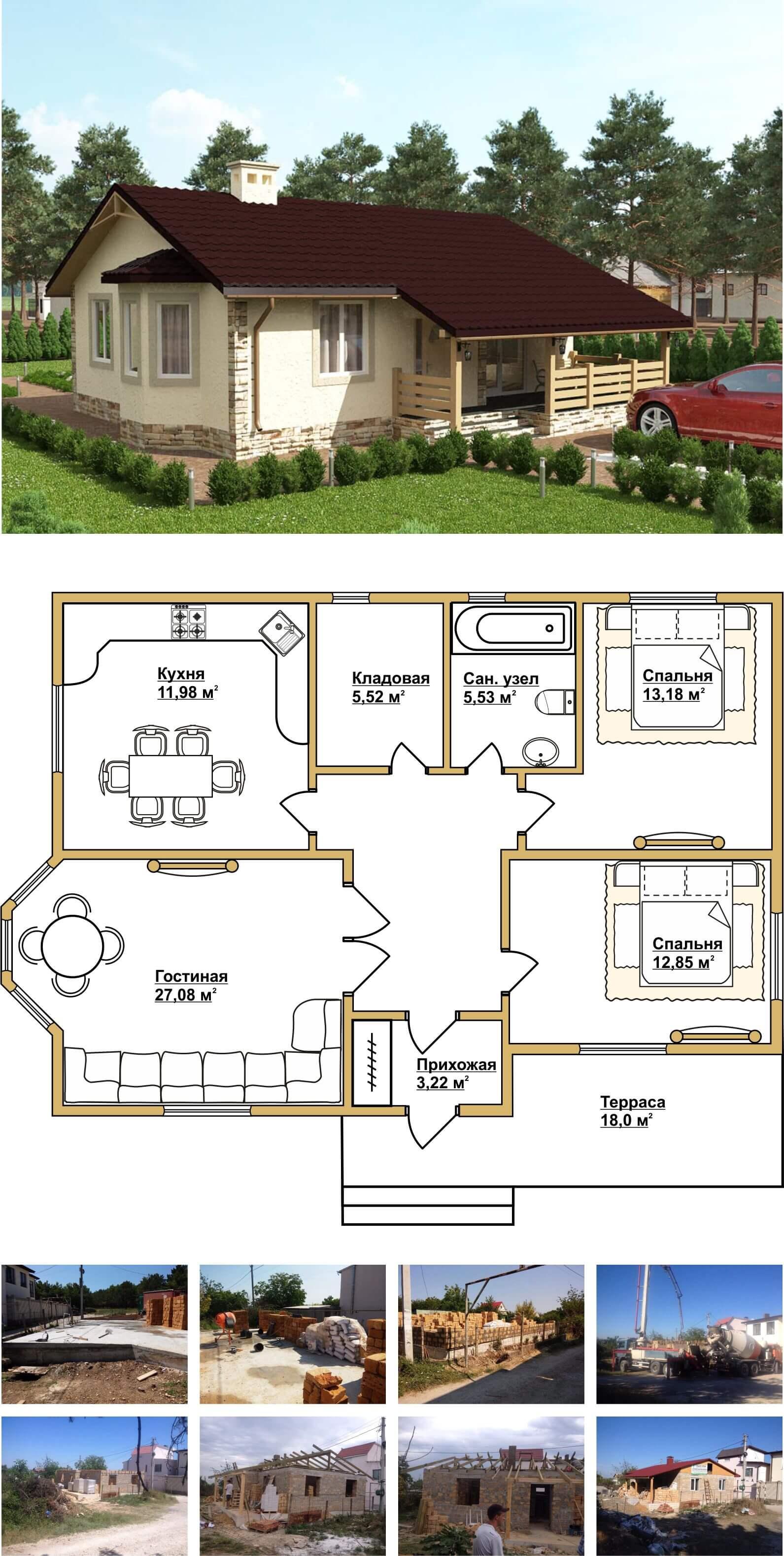 Строительство дома с гаражом в Крыму и Севастополе